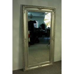 Srebrne Lustro w Stylowej Ramie - 180cm x 100cm.