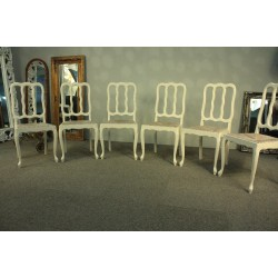 Krzesła Białe Przecierane - PROWANSJA kpl. 6szt.
