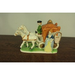 Porcelanowa Kareta - Konie - Figurki