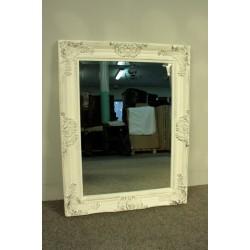 Barokowe Lustro w Białej Ramie - Glamour 88cm x 68