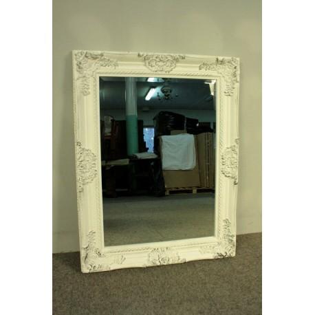 Barokowe Lustro w Białej Ramie -Glamour 88x68