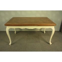 Stół Rozkładany - Biały Przecierany - PROWANSJA