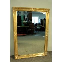 Lustro w Złotej Ramie - 102cm x 72cm Tafla ze Szlifem