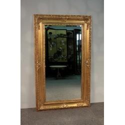 Lustro w Złotej Ramie - Fazowana Tafla 150cm x 90cm.