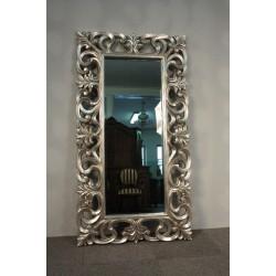 Lustro w Srebrnej Ramie 168 x 90 - Tafla ze Szlifem