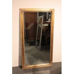 Lustro w Złotej Ramie - 132 x 72 Tafla ze Szlifem