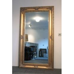 Złote Lustro w Stylowej Ramie - 180cm x 100cm.