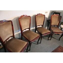 Stylowe Krzesła- kpl. 4 szt. Orzechowe