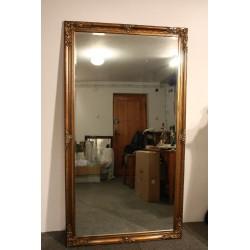 Lustro w Złotej Ramie - 180x 100 Patynowane- Stare Złoto